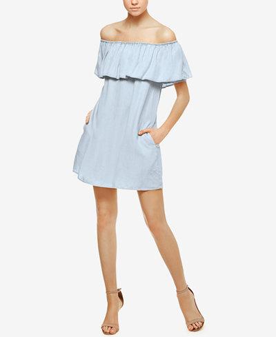 Sanctuary Stella Off-The-Shoulder Flounce Dress
