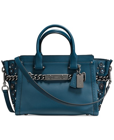 COACH Swagger 27 in Glovetanned Leather With Willow Floral
