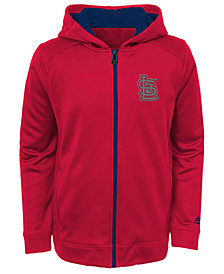 Majestic  St. Louis Cardinals Club Series Full-Zip Hoodie, Big Boys (8-20)