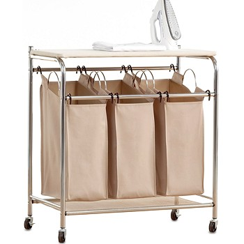 Neatfreak Laundry Triple Sorter with Ironing Board