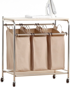 Image of Neatfreak Hampers, Everfresh Laundry Triple Sorter with Ironing Board