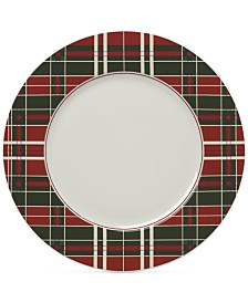 Lenox Vintage Plaid Set/4 Dinner Plates