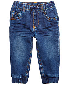 First Impressions Baby Boys Cotton Denim Jogger Pants, Created for Macy's