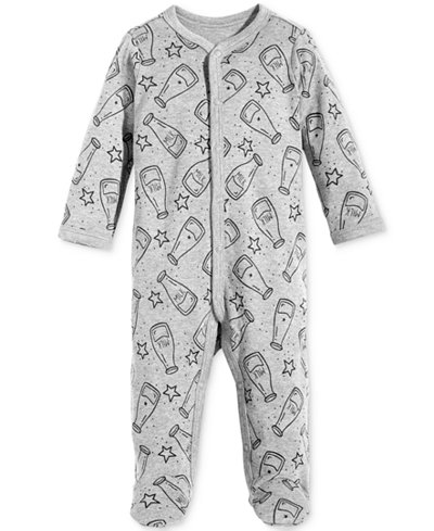 First Impressions 1-Pc. Milk-Print Footed Cotton Coverall, Baby Boys & Girls, Created for Macy's