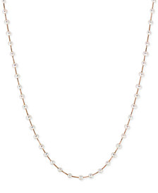 EFFY® Cultured Freshwater Pearl (3mm) Statement Necklace in 14k Gold, 14k White Gold or 14k Rose Gold