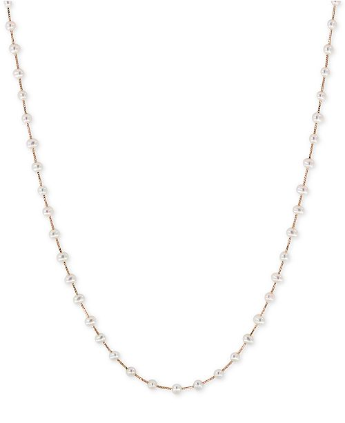 EFFY Collection EFFY® Cultured Freshwater Pearl (3mm) Statement Necklace in 14k Gold, 14k White Gold or 14k Rose Gold