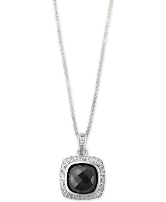 Effy® Hematite (9 X 9mm) Pendant Necklace In Sterling Silver by Effy Collection