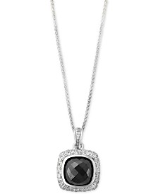 EFFY® Hematite (9 x 9mm) Pendant Necklace in Sterling Silver
