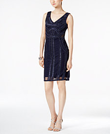 Adrianna Papell Petite Sequin Sheath Dress