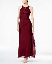 70f91b2c525a1 B A by Betsy and Adam Ruched Halter Gown