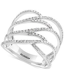 Pavé Rose by EFFY® Diamond Ring in 14k Rose Gold (3/8 ct. t.w.)