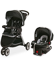 Graco FastAction Sport Stroller & SnugRide Click Connect 35 Car Seat Travel System