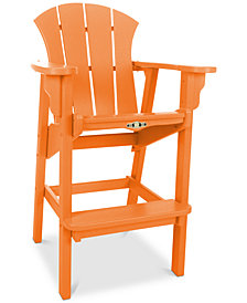 Sunrise High Dining Outdoor Adirondack Chair, Quick Ship