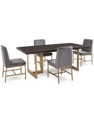 Cambridge Dining Furniture, 5-Pc. Set (Dining Table & 4 Gray Side Chairs), Created for Macy's