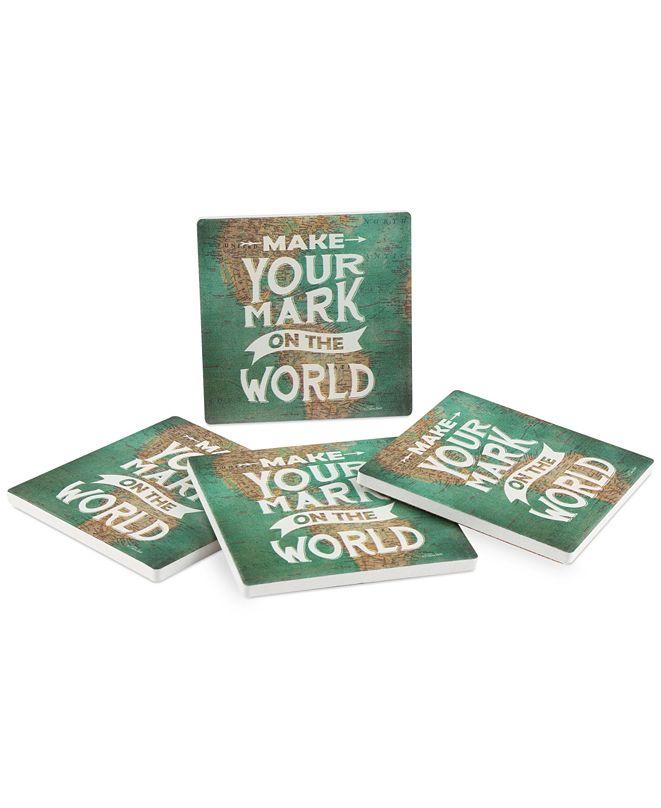 Thirstystone Make Your Mark 4-Pc. Coaster Set