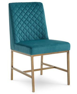 cambridge dining side chair (teal) - furniture - macy's