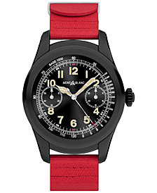 Montblanc Unisex Swiss Summit Red Rubber Strap Smart Watch 46mm