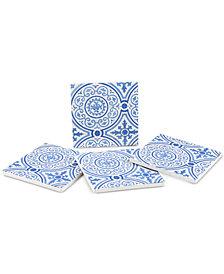 Thirstystone Blue Gilded Opulence 4-Pc. Coaster Set