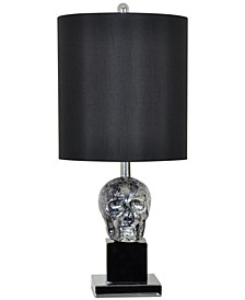 Black Skull Table Lamp