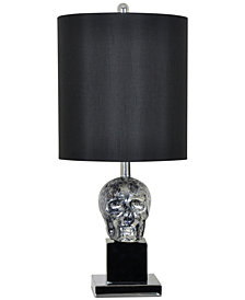 Crestview Black Skull Table Lamp