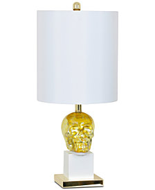 Crestview Golden Skull Table Lamp