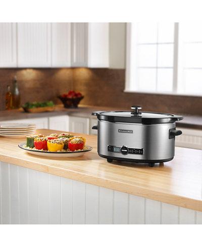 KitchenAid KSC6223 6 Qt. Slow Cooker - Electrics - Kitchen - Macy\'s