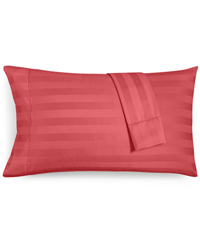 CLOSEOUT! Charter Club Damask Stripe Standard Pillowcase Set, 550 Thread Count 100% Supima Cotton, Created for Macy's