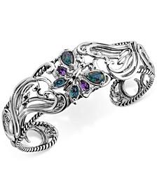 Multi-Gemstone Butterfly Bracelet (2-1/5 ct. t.w.) in Sterling Silver