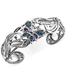 Multi-Gemstone Butterfly Bracelet (2-1/5 ct. t.w.) in Sterling Silver