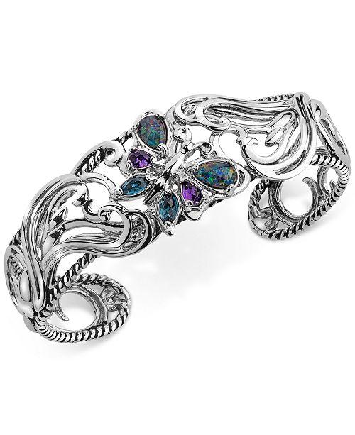 Carolyn Pollack Multi-Gemstone Butterfly Bracelet (2-1/5 ct. t.w.) in Sterling Silver