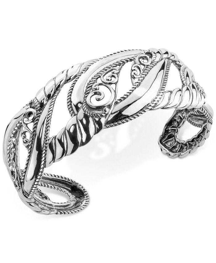 Carolyn Pollack - Filigree Openwork Cuff Bracelet in Sterling Silver