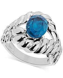 Blue Topaz Rope-Style Ring (2-9/10 ct. t.w.) in Sterling Silver