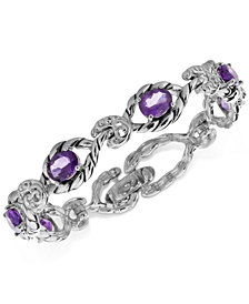 Amethyst Open Link Bracelet (6-5/8 ct. t.w.) in Sterling Silver
