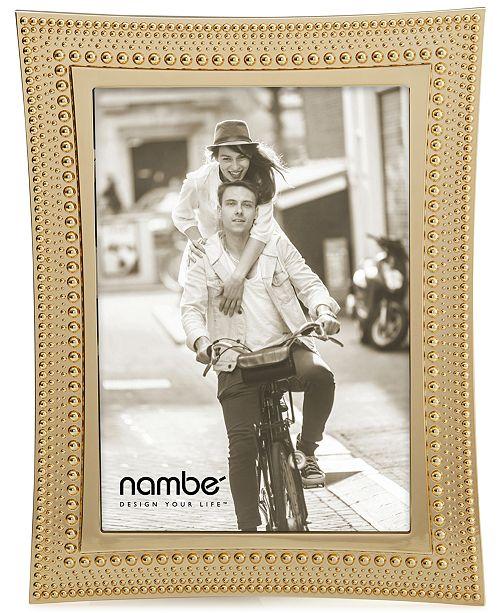 "Nambe Nambe 5"" x 7"" Beaded Gold Frame"