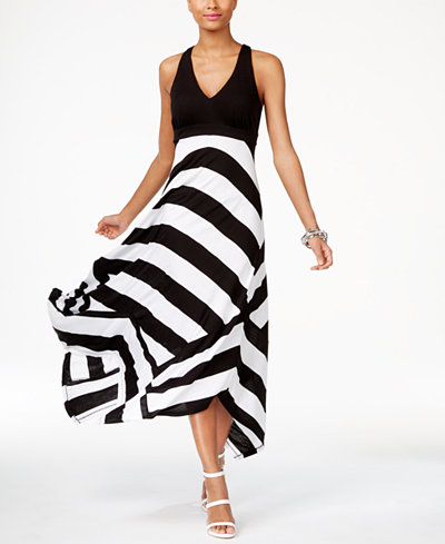 INC International Concepts Striped Maxi Dress, Created for Macy\'s ...