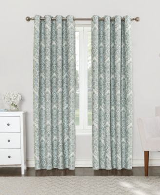 "Courtney 52"" x 63"" Damask Blackout Lined Grommet Curtain Panel"