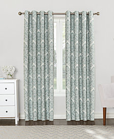 "Sun Zero Courtney 52"" x 84"" Damask Blackout Lined Grommet Curtain Panel"