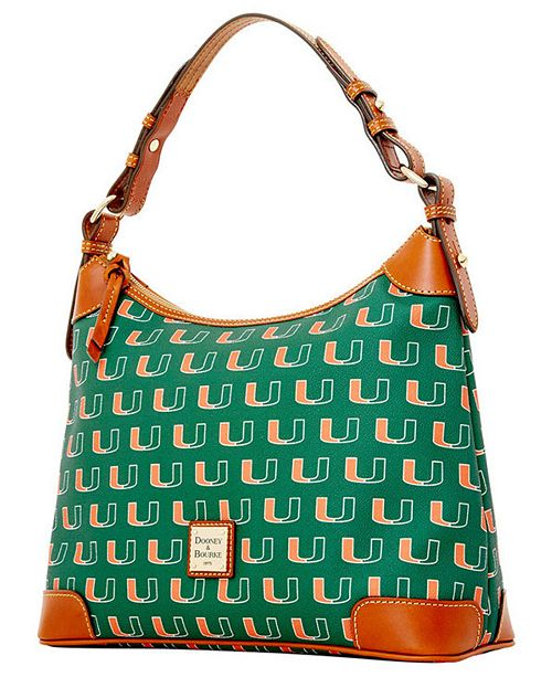 Dooney & Bourke Miami Hurricanes Hobo Bag & Reviews