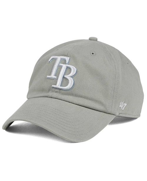 '47 Brand Tampa Bay Rays Gray White CLEAN UP Cap