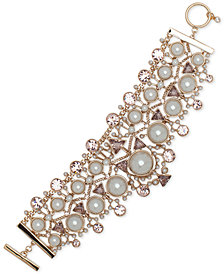 Givenchy Crystal, Colored Stone & Imitation Pearl Flex Bracelet