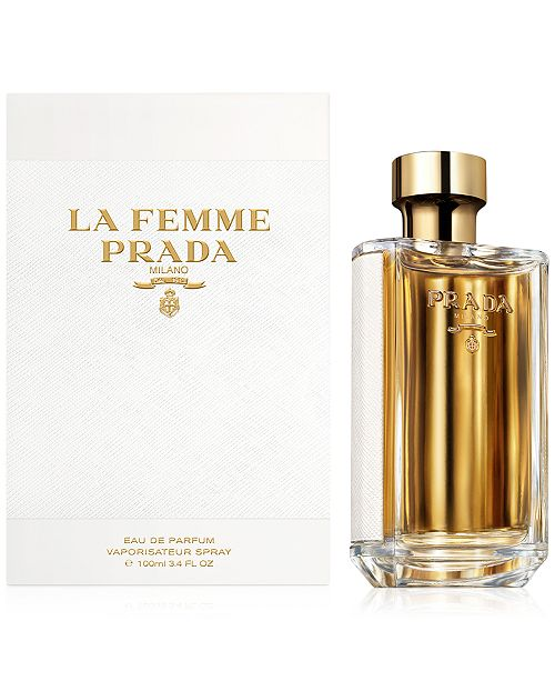 80e9e959ed94aa Prada La Femme Prada Eau de Parfum Spray, 3.4 oz. - All Perfume - Beauty -  Macy s