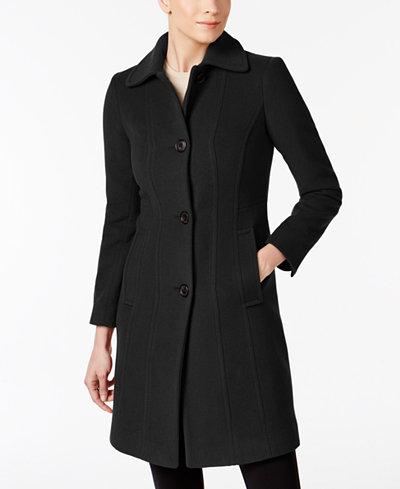 Anne Klein Petite Seamed Walker Coat