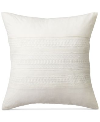 "Devon Lace Appliqué 18"" Square Decorative Pillow"