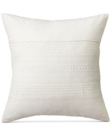 "PRICE BREAK! Devon Lace Appliqué 18"" Square Decorative Pillow"