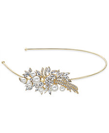 Nina Crystal & Imitation Pearl Flower Side Headband