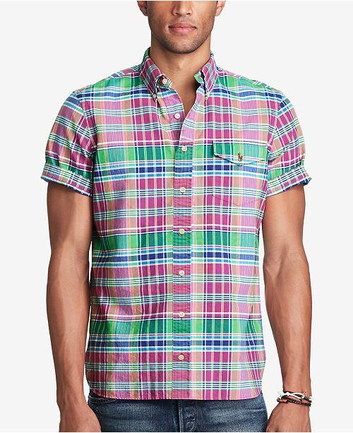 2fec5c375 Polo Ralph Lauren Men s Plaid Oxford Shirt   Reviews - Casual Button ...