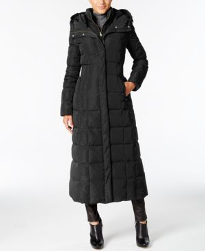 Signature Petite Layered Maxi Puffer Coat, Carbon