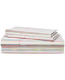 Lauren Ralph Lauren Cayden Cotton Percale Count 4-Pc. Stripe Queen Sheet Set