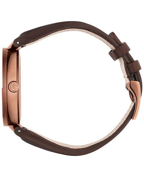 f401f3d7490 ... Gucci Women s Swiss Interlocking Brown Leather Strap Watch 42mm YA133207  ...