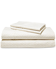 Lauren Ralph Lauren Lakeview Cotton Percale Count 4-Pc. King Sheet Set